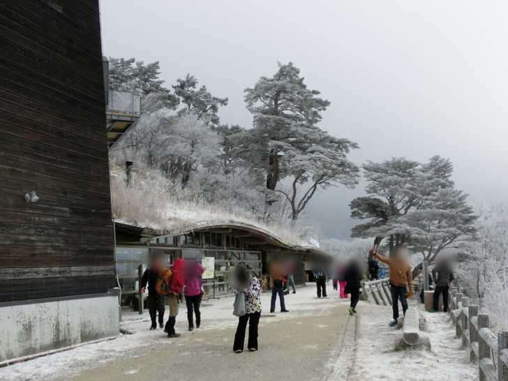 雪で真っ白!!ちはや園地『千早ミュージアム』