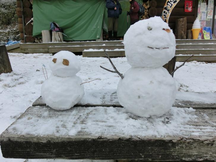 千早赤阪村の『ちはや園地』で作った雪だるま