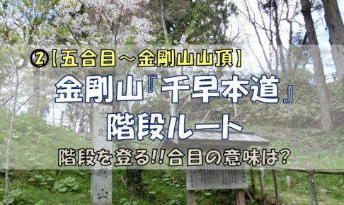金剛山千早本道階段コース【五合目~金剛山山頂】