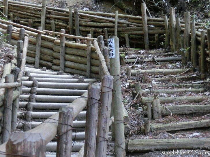 金剛山千早本道階段ルート、六・五合目