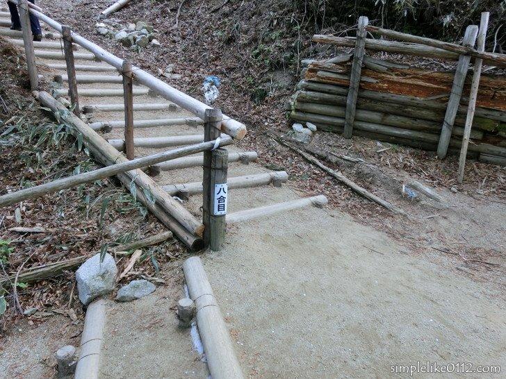 金剛山千早本道階段ルート、八合目
