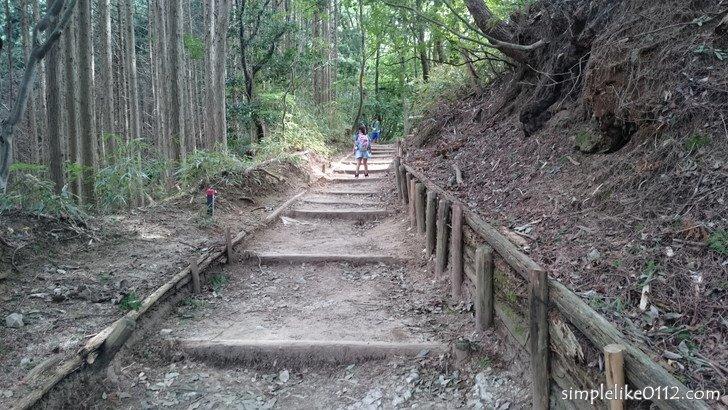 金剛山千早本道コースの階段
