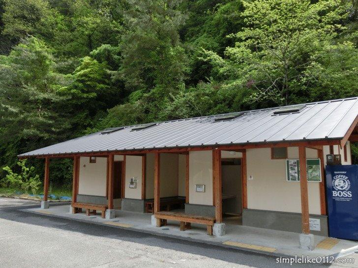 大阪府立金剛登山道駐車場のトイレ