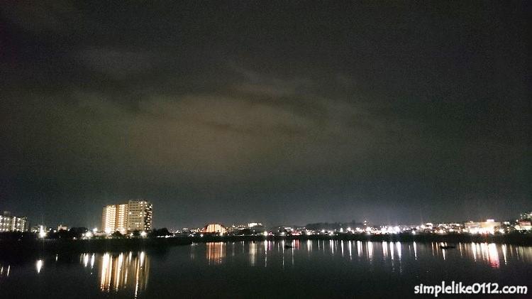 狭山池の夜景