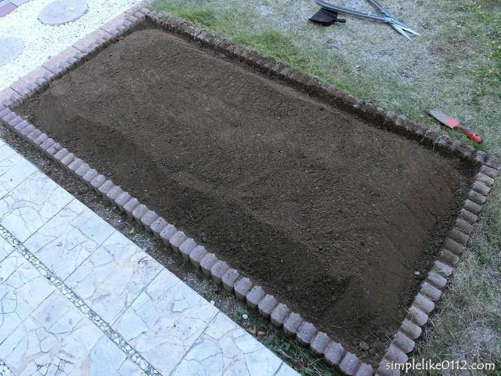 家庭菜園の畑
