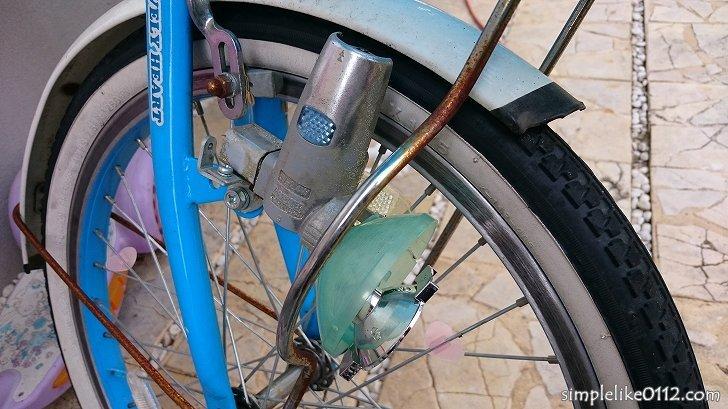 自転車のダイナモライトが壊れる