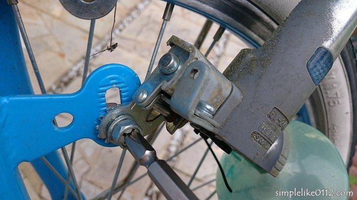 自転車のダイナモライトを交換