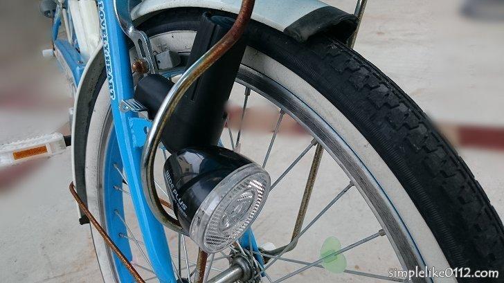LED式ダイナモライト取付作業