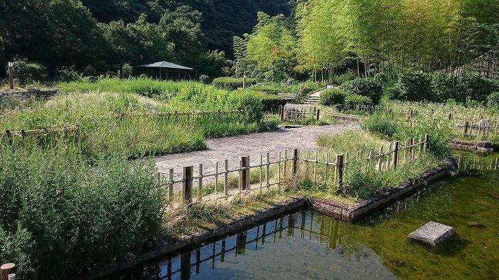 阪和自動車道岸和田SAの日本庭園風くつろぎスポット