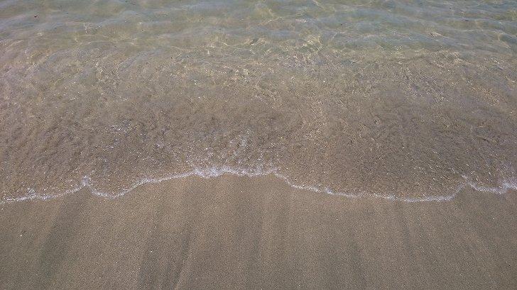 片男波海水浴場はきれい