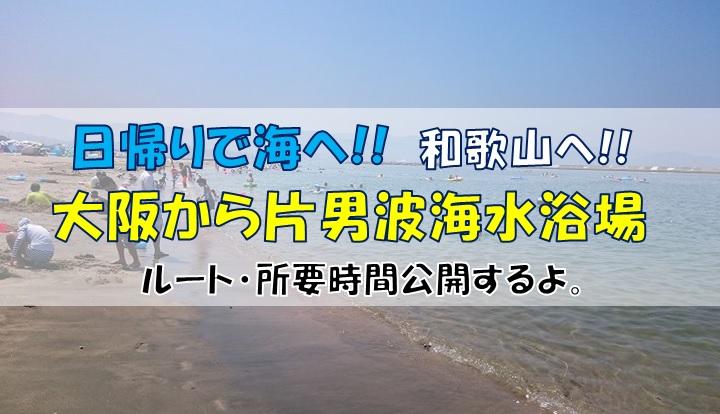 大阪から和歌山片男波海水浴場までのルート・所要時間