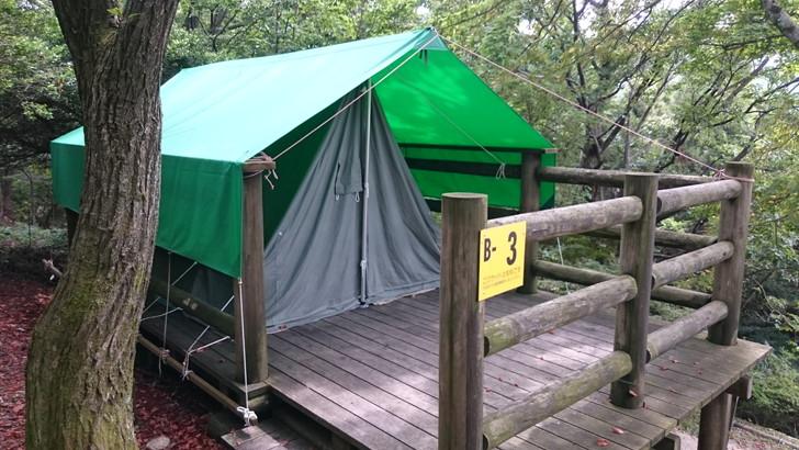 ちはや園地金剛山キャンプ場常設テント