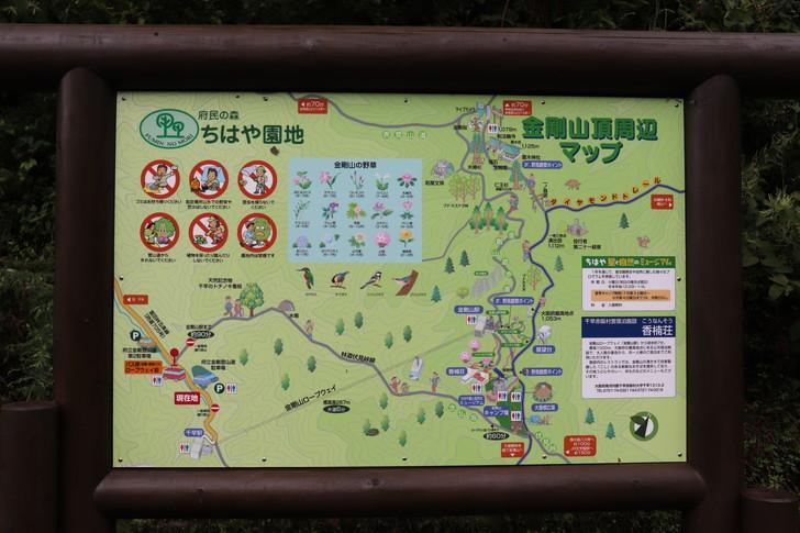 金剛山山頂周辺マップ