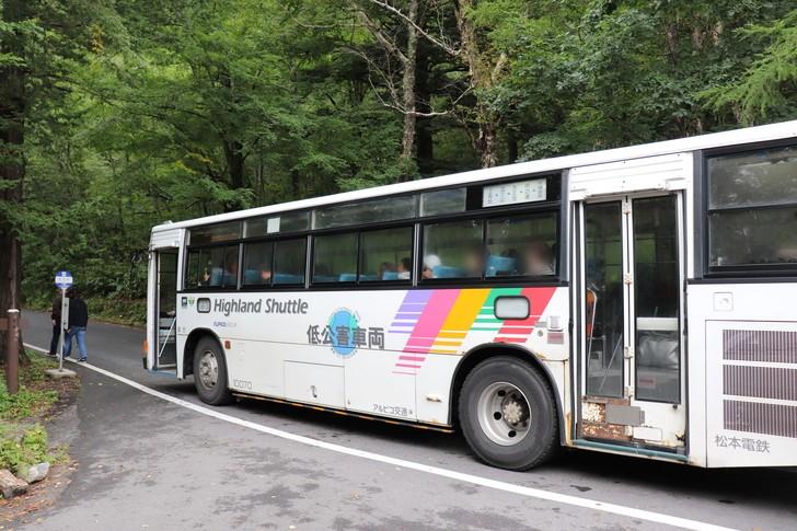 上高地へのアクセスはバスで!!