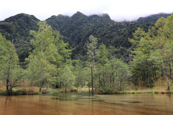 上高地の田代池