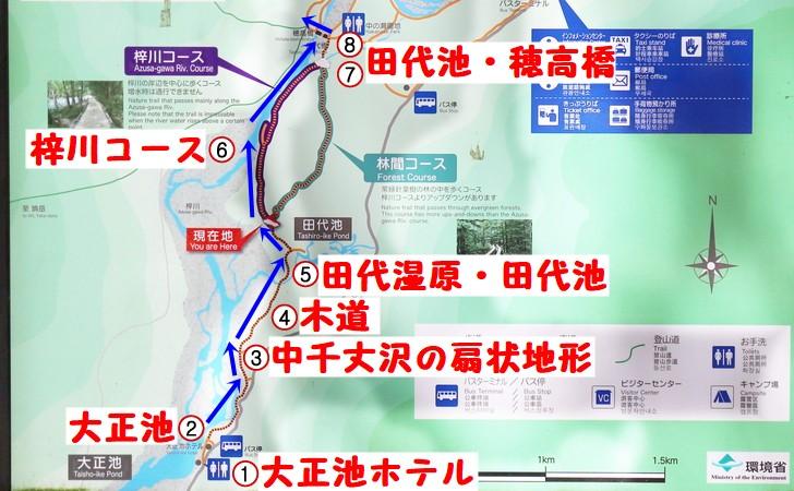 上高地散策モデルコース【大正池~田代橋・穂高橋まで】