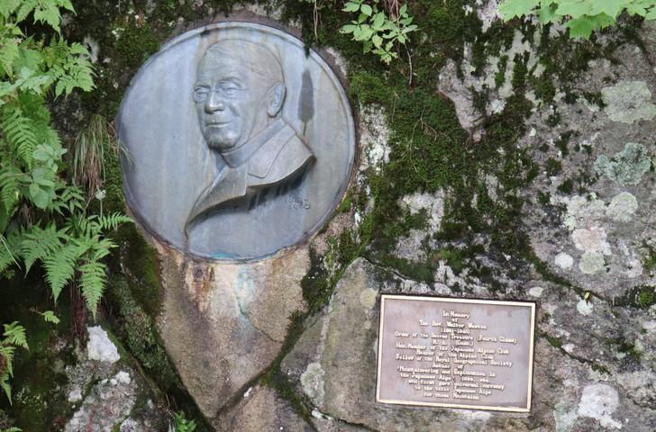 ウェストンレリーフ・ウェストン碑