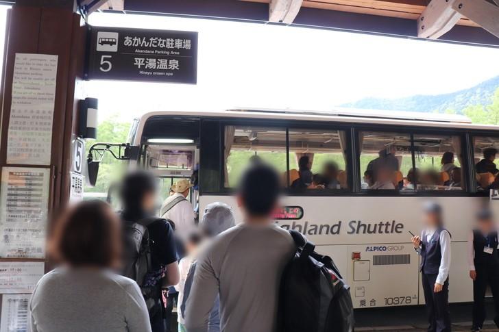 上高地バスターミナルのバス時刻表は?