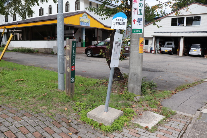ひるがの分水嶺公園のバス停