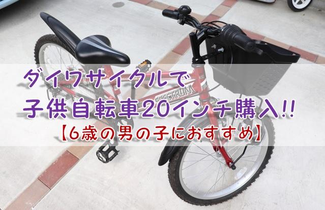 ダイワサイクルで子供自転車20インチ購入!!【6歳の男の子におすすめ】
