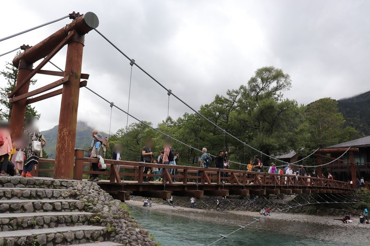 河童橋・大正池・周辺道路が確認できる
