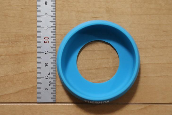 サーモスタンブラーの底カバーの直径は約65mm