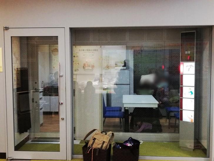 京都市市民防災センターの地震体験コーナー