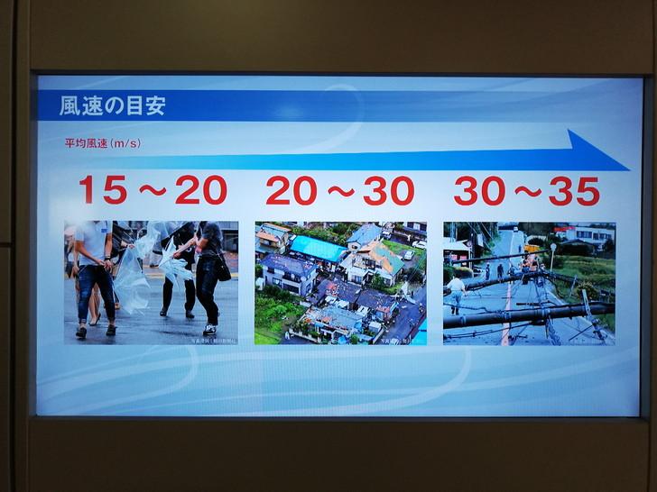 京都市市民防災センターの強風体験コーナー