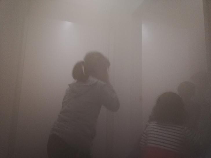 京都市市民防災センターの避難体験コーナー