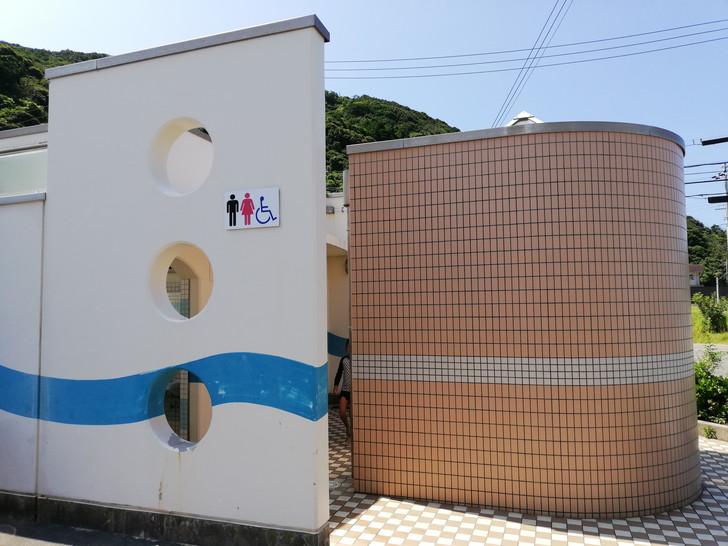 産湯海水浴場のトイレ