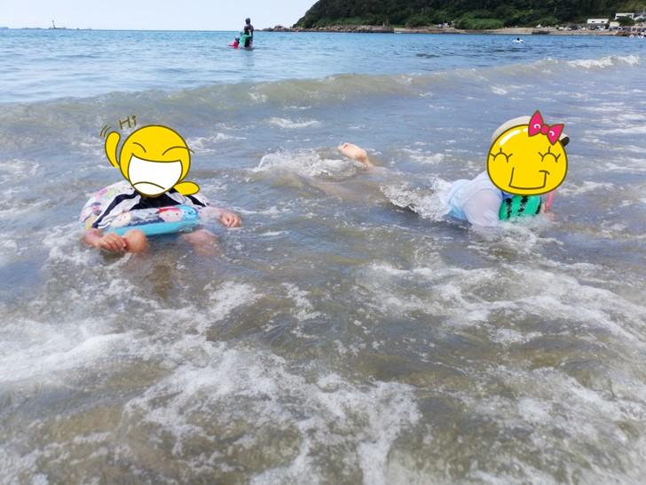 産湯海水浴場での遊び方
