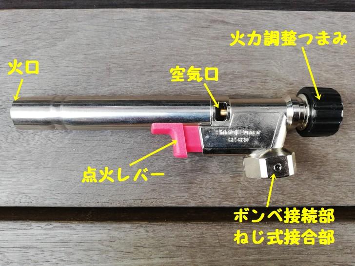 新富士パワートーチRZ-820Sの本体名称
