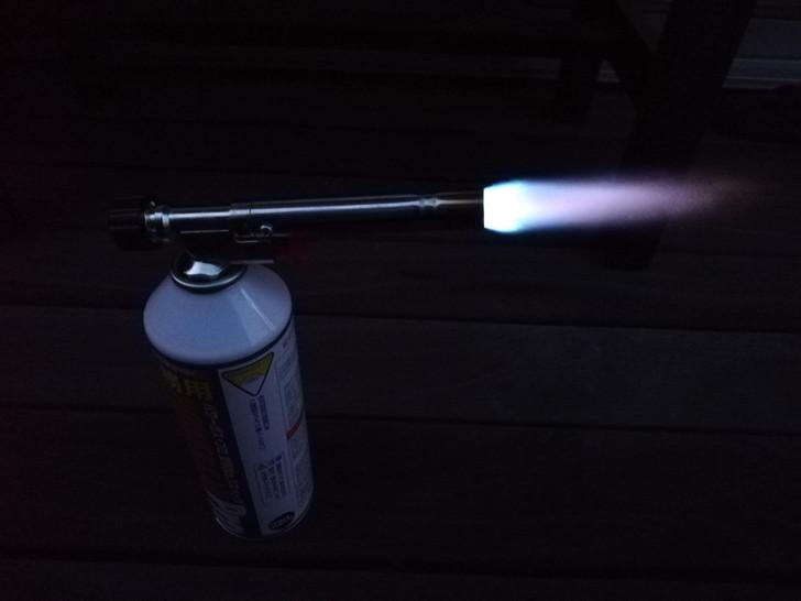 ガストーチバーナーの青い炎は集中炎