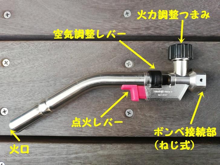 新富士パワートーチRZ-832の本体名称