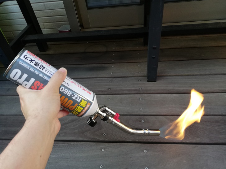 ソフト炎でも逆さ使用できるパワートーチRZ-831
