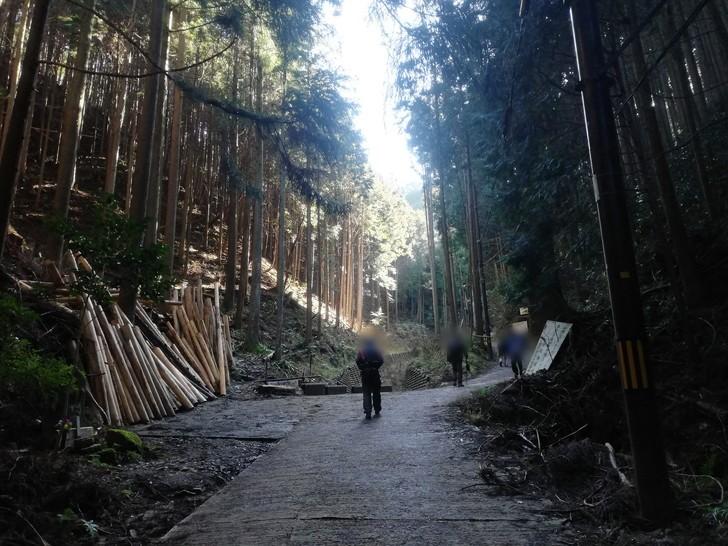 冬の金剛山千早本道ルート・千早本道登山口~5合目までは雪は無かった