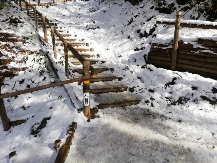 冬の金剛山千早本道八合目