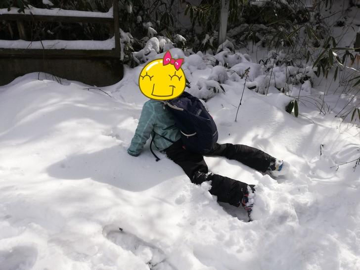 積雪の金剛山で子供と一緒に遊ぶ!!
