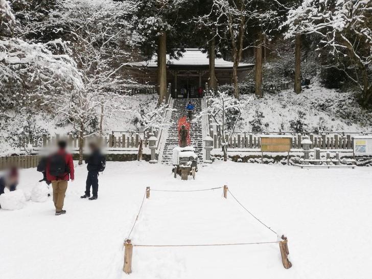 冬の金剛山・転法輪寺境内