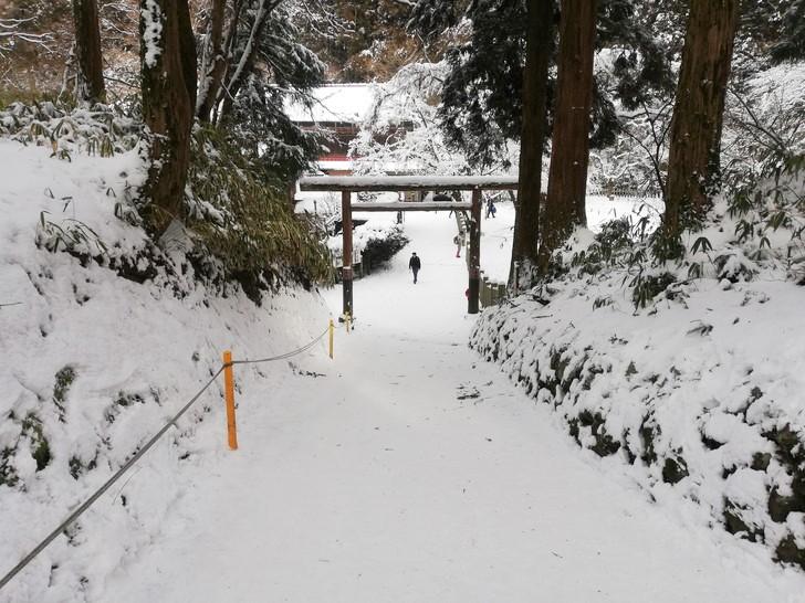 冬の金剛山・葛木神社へ向かう参道の起点