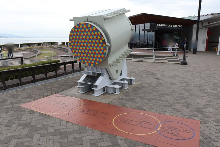明石海峡大橋のケーブル実物部分展示