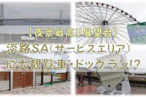 淡路SA(サービスエリア)に大観覧車・ドッグラン!?【夜景最高!!展望台】