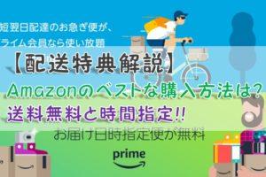 【配送特典解説】Amazonのベストな購入方法は?送料無料と時間指定!!