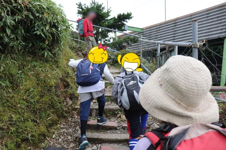 初心者コースで剣山山頂へ!!