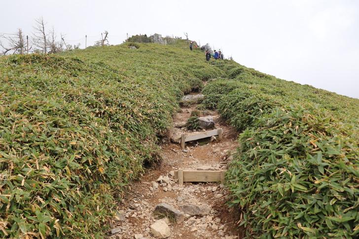 次郎笈から剣山まで縦走:剣山山頂への最後の登り