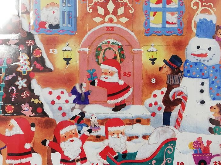 25日クリスマスまで付いてるメリーチョコレートのアドベントカレンダー