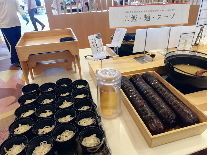 鳴門グランドホテル海月の朝食バイキング【ご飯・麺・スープ】