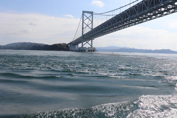 大鳴門橋直下に到着!!