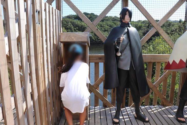 NARUTO&BORUTO忍里の巨大立体迷路「うちはサスケ」スタンプ