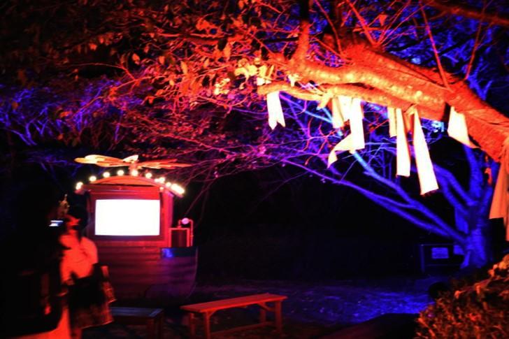 ナイトウォーク火の鳥・光りの紙芝居